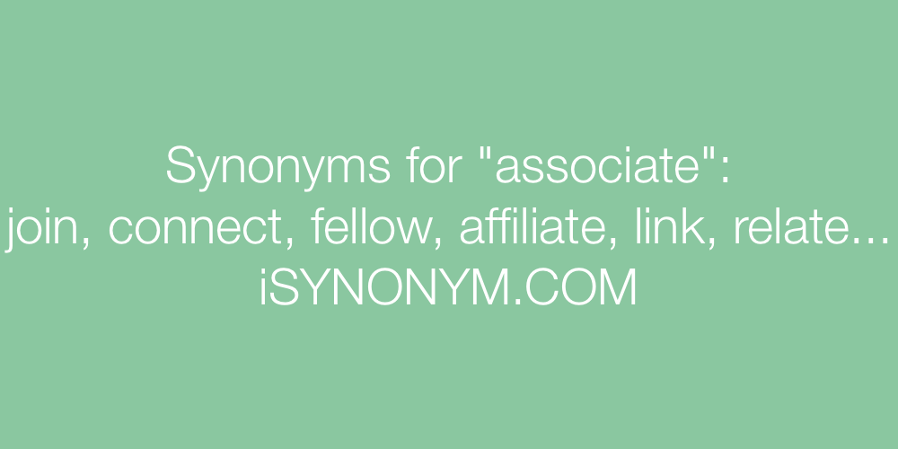 Synonyms associate