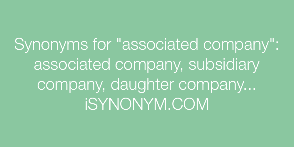 Synonyms associated company