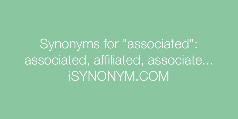 Synonyms associated