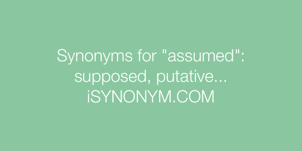 Synonyms assumed