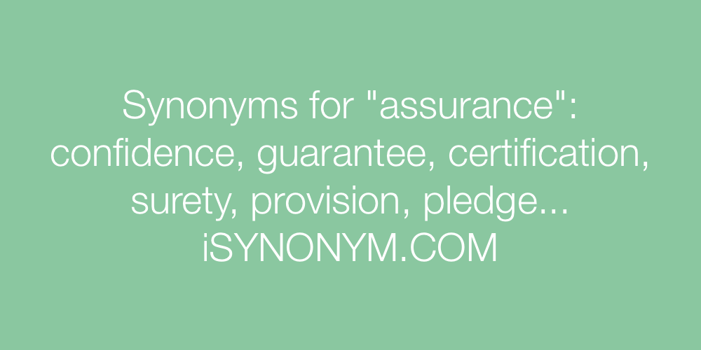 Synonyms assurance