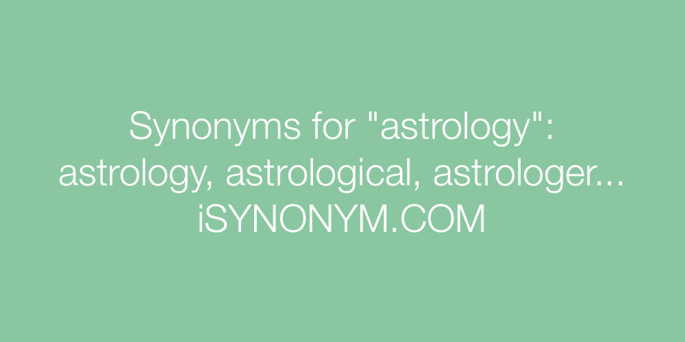 Synonyms astrology