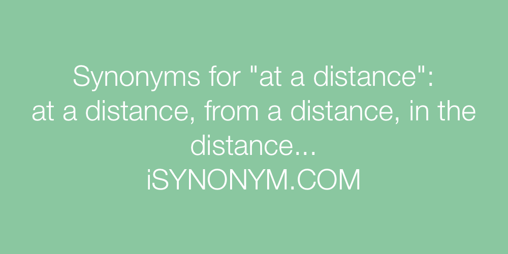 Synonyms at a distance
