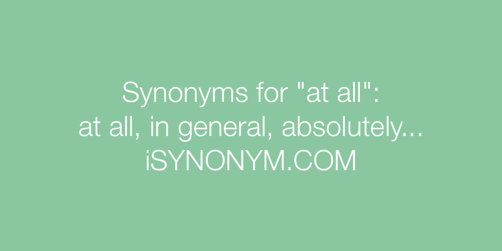 Synonyms at all