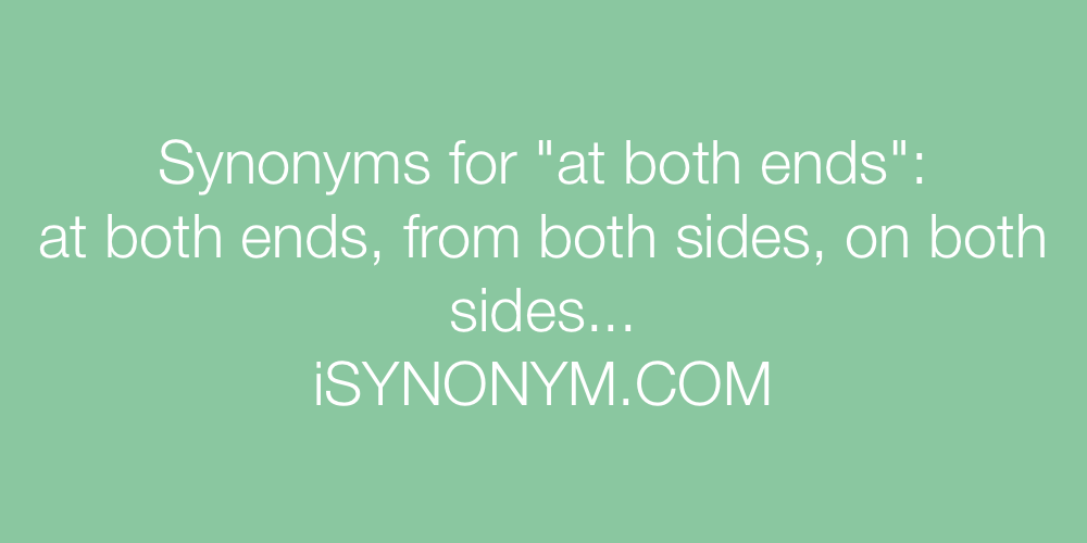Synonyms at both ends