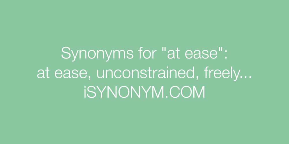 Synonyms at ease