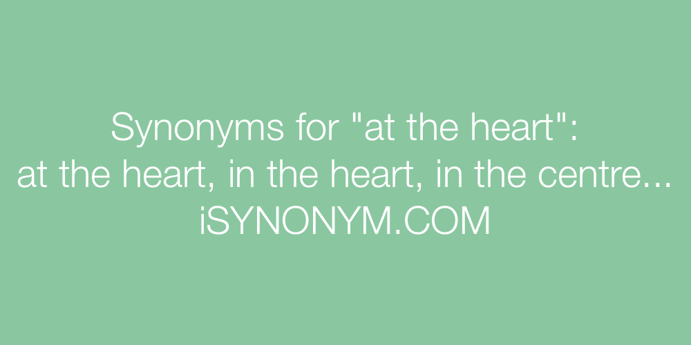 Synonyms at the heart
