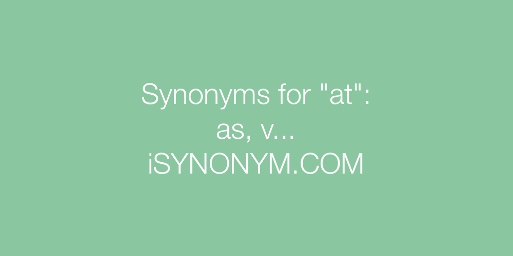 Synonyms at