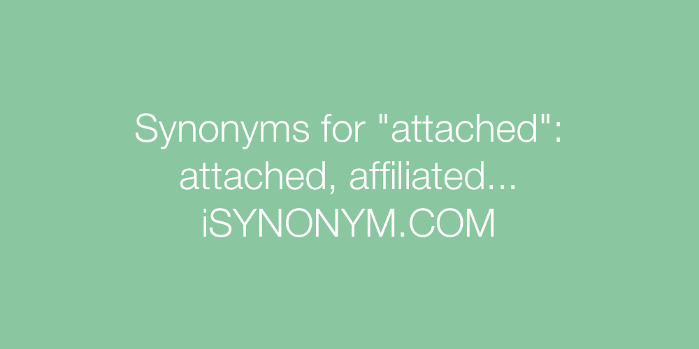 Synonyms attached
