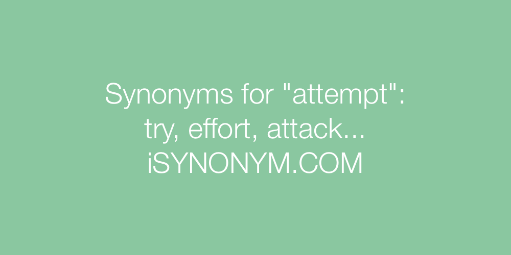 Synonyms attempt