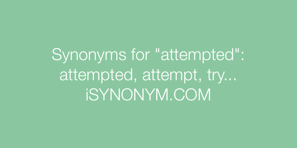 Synonyms attempted
