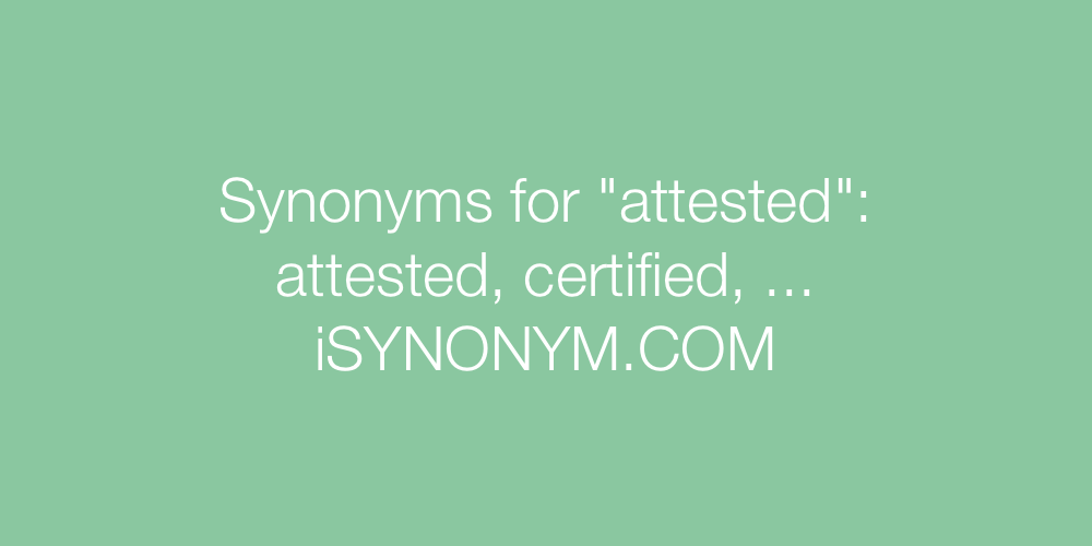 Synonyms attested