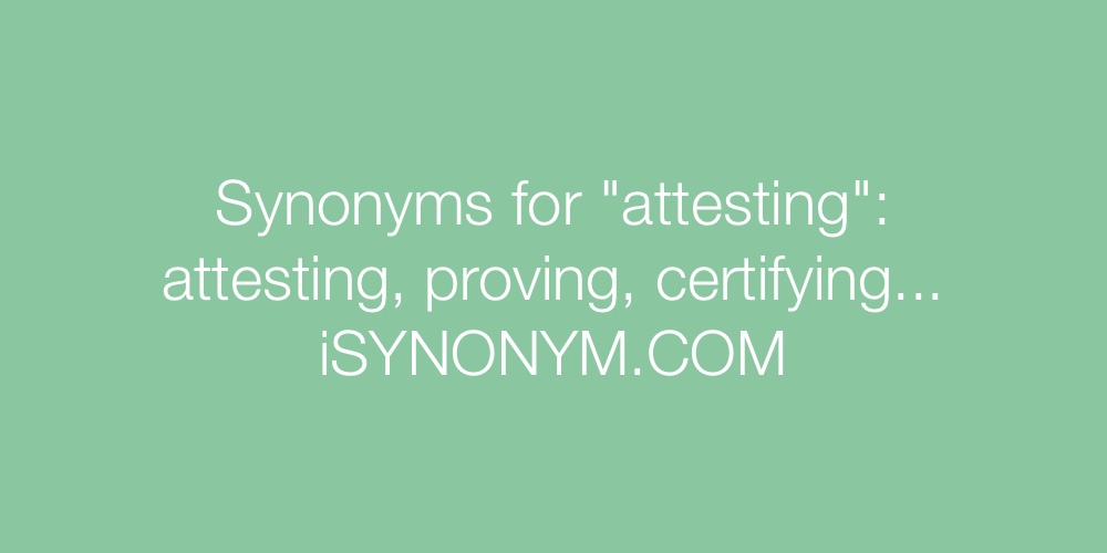 Synonyms attesting