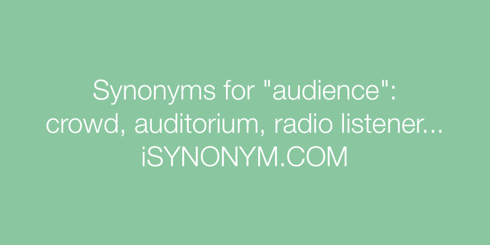 Synonyms audience