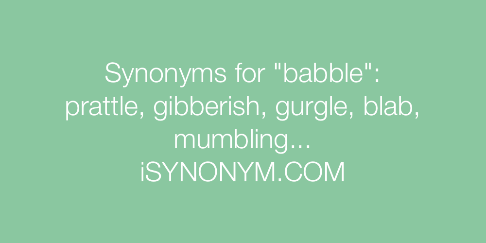 Synonyms babble