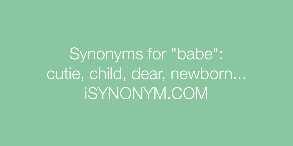 Synonyms babe