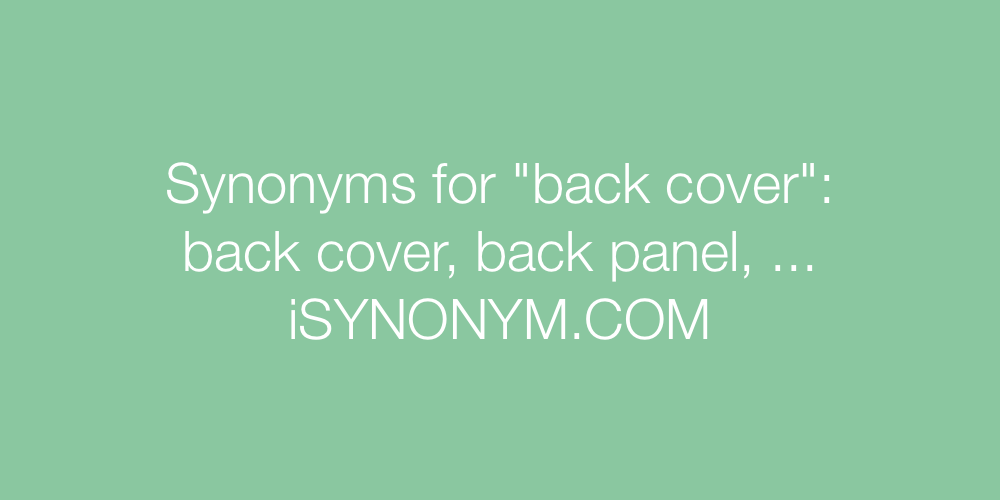 Synonyms back cover