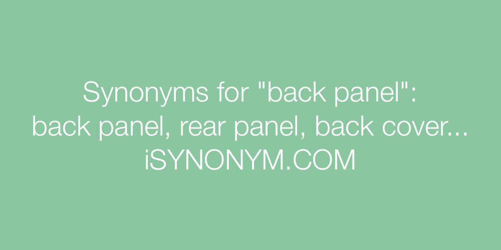Synonyms back panel