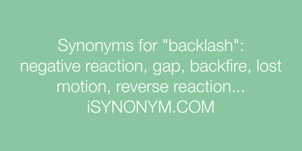 Synonyms backlash