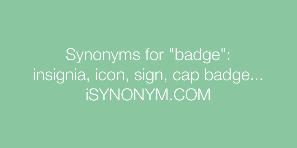 Synonyms badge