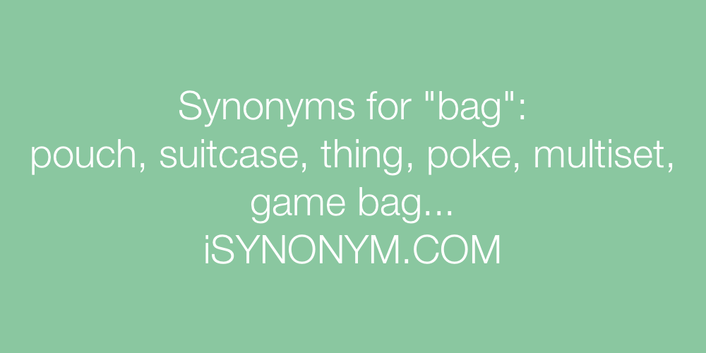 Synonyms bag