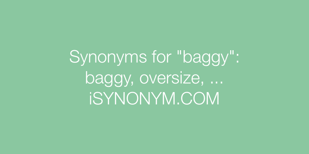 Synonyms baggy