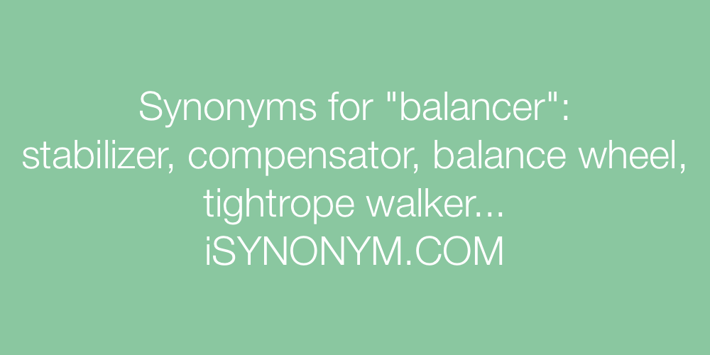 Synonyms balancer
