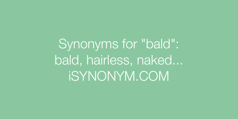 Synonyms bald