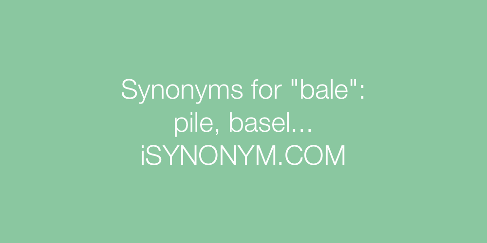 Synonyms bale