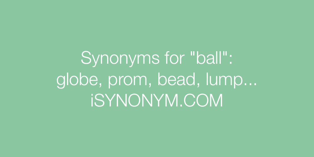 Synonyms ball