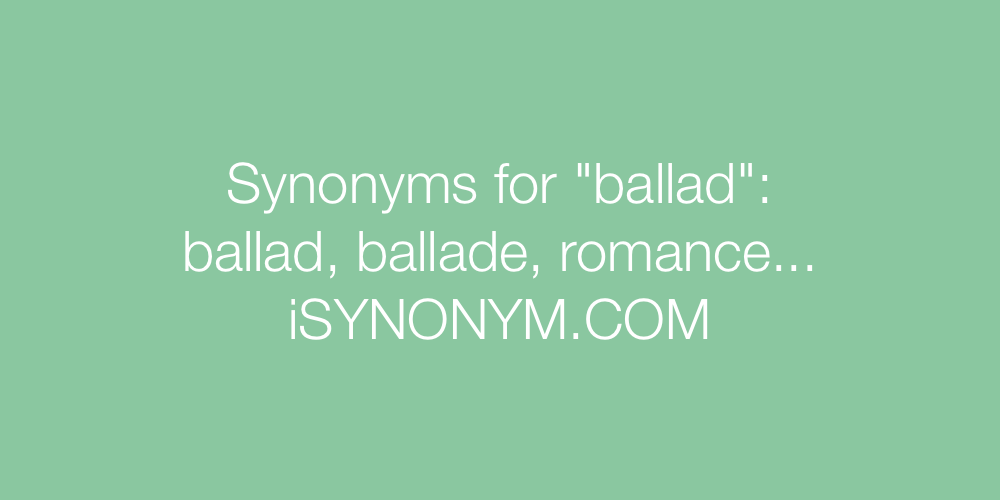 Synonyms ballad