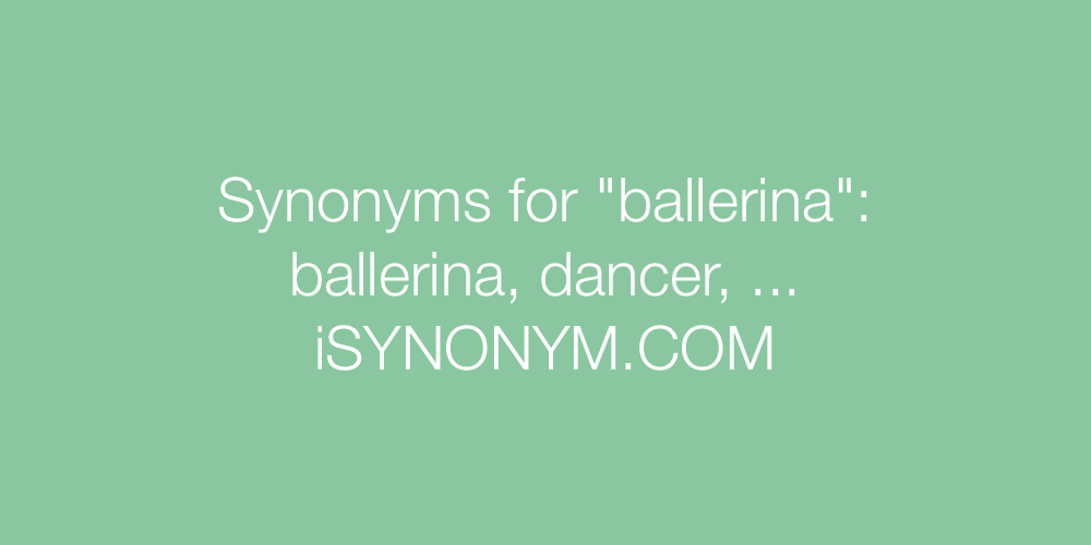 Synonyms ballerina