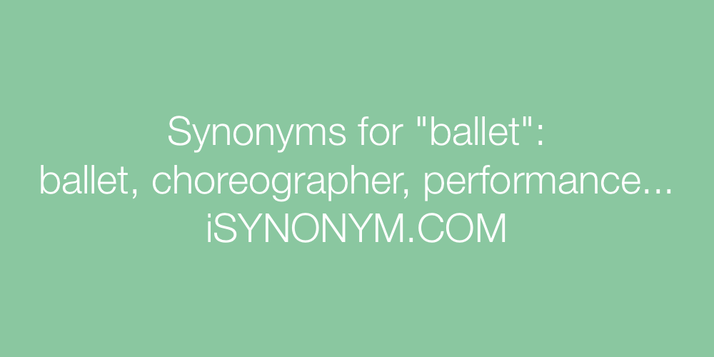 Synonyms ballet