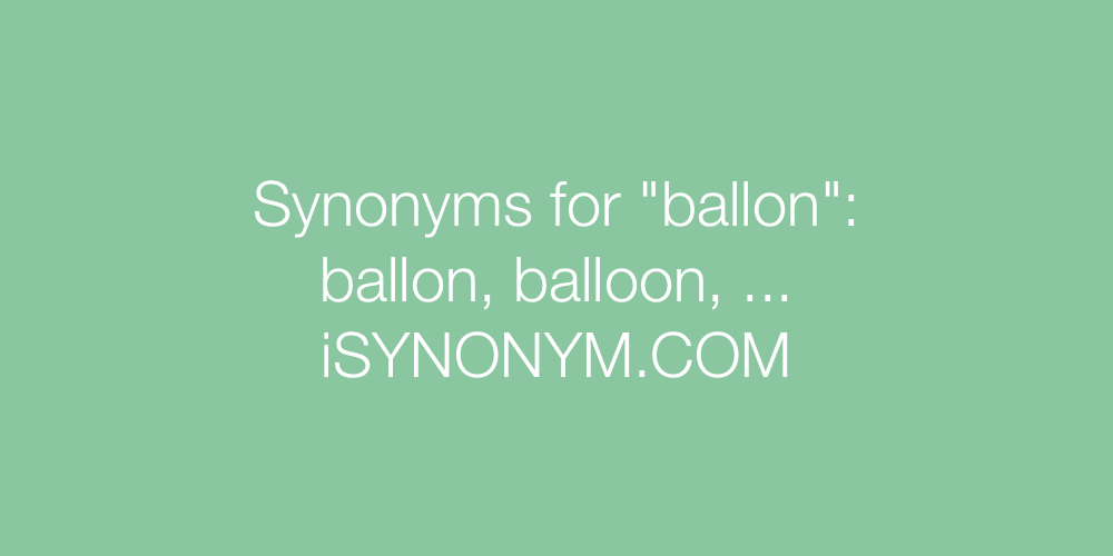Synonyms ballon