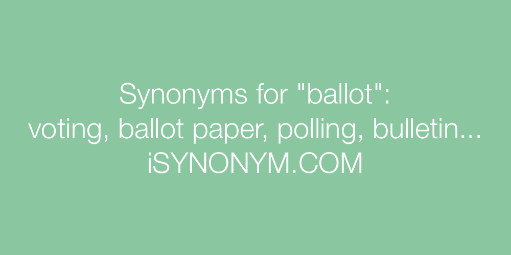 Synonyms ballot