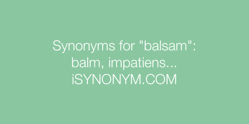 Synonyms balsam