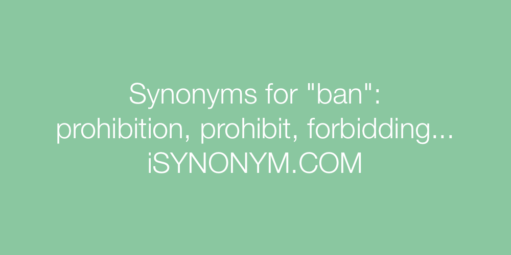 Synonyms ban