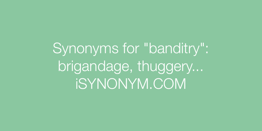 Synonyms banditry