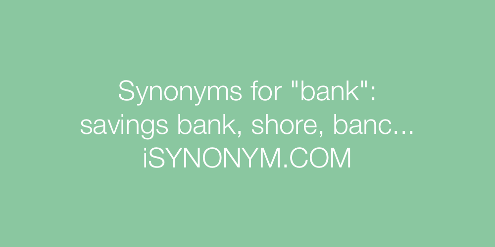 Synonyms bank
