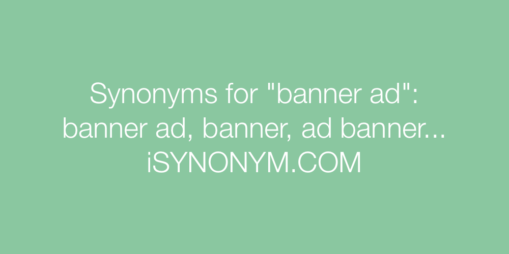 Synonyms banner ad