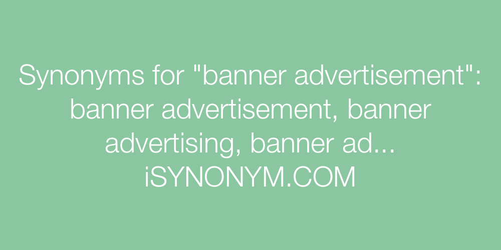 Synonyms banner advertisement