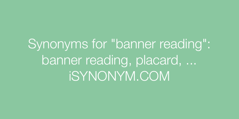 Synonyms banner reading