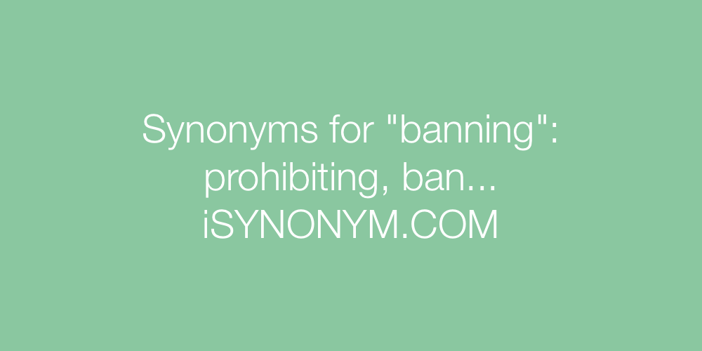 Synonyms banning