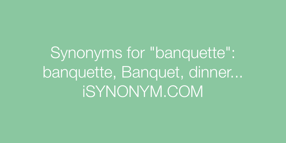 Synonyms banquette