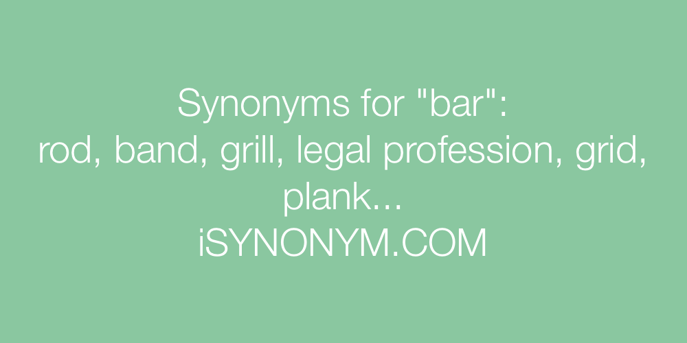 Synonyms bar