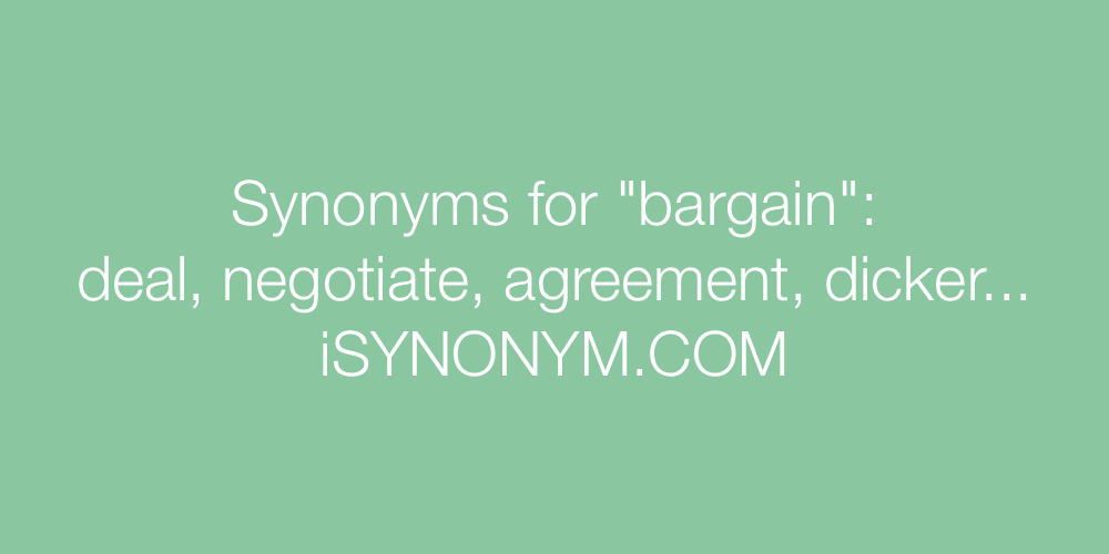 Synonyms bargain