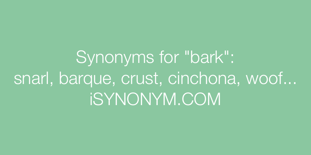 Synonyms bark