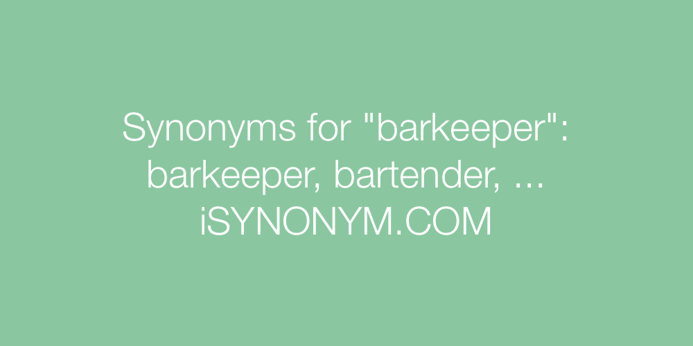Synonyms barkeeper