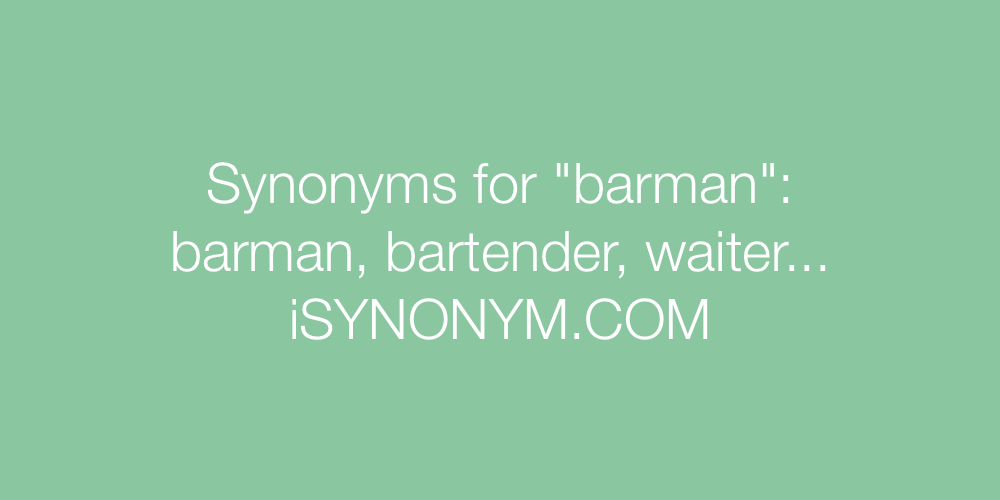 Synonyms barman
