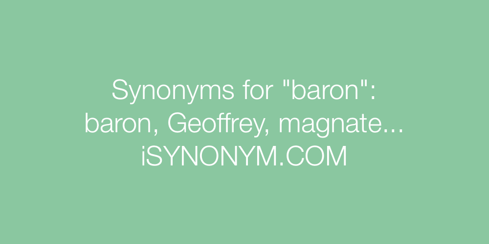 Synonyms baron